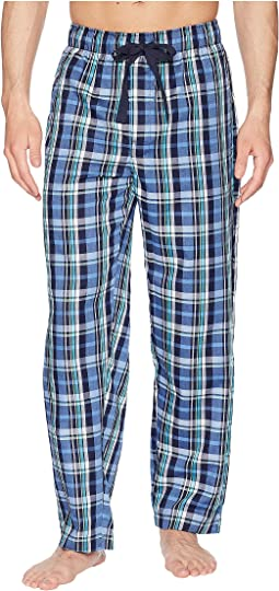 Plaid Poly/Rayon Sleep Pants