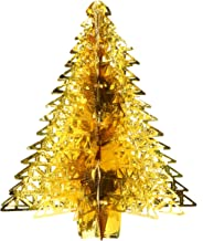 16.8 Inch Gold Christmas Tree Hanging Foil Christmas Decoration