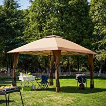 Suntime Pop Up Canopy Outdoor Portable Party Wedding Tent with One Sidewall (NOT Netting sidewalls)