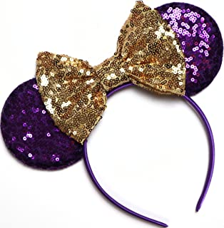 CLGIFT Rapunzel Inspired Minnie Ears, Tangled Minnie Ears, Princess Rapunzel, Purple Mickey Minnie Ears