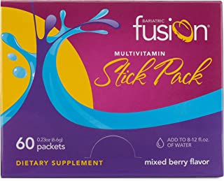 Bariatric Fusion Multivitamin Stick Packs Mixed Berry for Bariatric Surgery Patients Including Gastric Bypass and Sleeve Gastrectomy, 60 Count