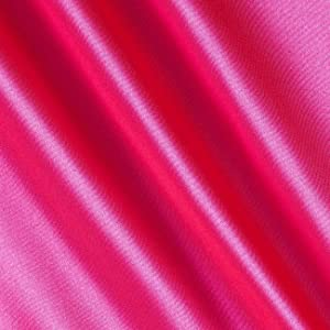 Shannon Fabrics Silky Satin Charmeuse Solid Hot Pink Fabric By The Yard