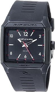 リップカールMen 'sクオーツプラスチックとポリウレタンSport Watch, Color : Black (Model : a3038blk1sz)