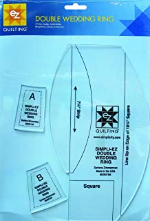 Simplicity Double Wedding Ring Quilting Ruler and Template, 12