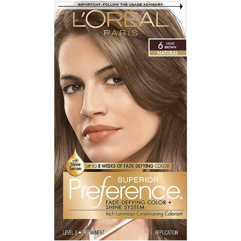 プレゼントエネルギー導入するLOreal Preference Hair Color, Light Brown #6 - 1Ea (並行輸入品)