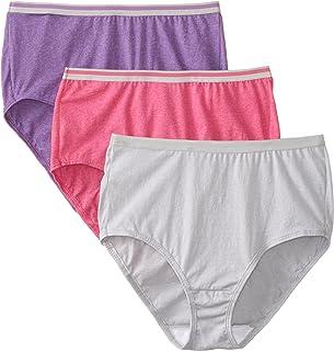 Fruit of the Loom Women's 3 Pack Heather Brief Panties