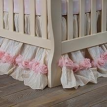 product image for Glenna Jean Victoria Dust Ruffle Mini Crib Skirt, Pink