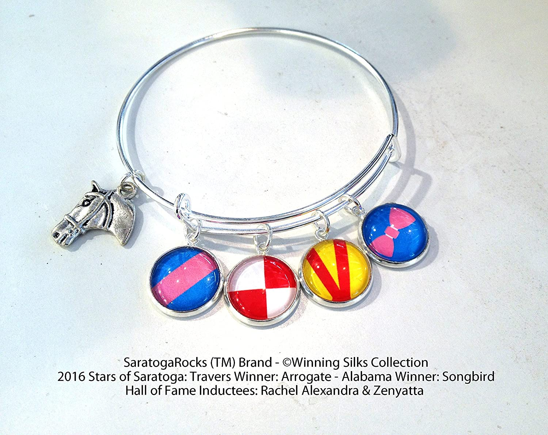 Saratoga Race Track - Now free shipping Winning Silks Arrogate Songbi Topics on TV Bracelet
