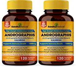 Kalmegh - Andrographis Immunity Support- Vegetarian 120 Capsules- 2 Pack