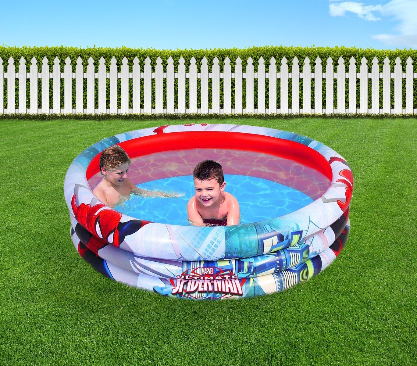 98006 Piscina inflable 152 x 30 cm Bestway Spiderman: Amazon.es: Hogar