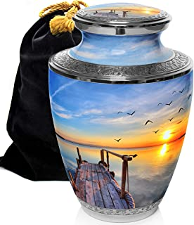 Dock of The Bay Cremation Urns for Human Ashes Adult for Funeral, Burial, Columbarium or Home, Cremation Urns for Human Ashes Adult 200 Cubic Inches, Urns for Ashes, Adult/Large