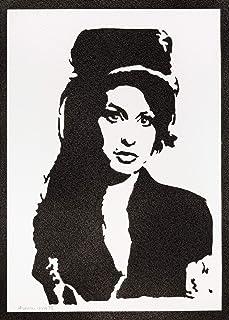 Poster Amy Winehouse Handmade Graffiti Street Art - Artwork