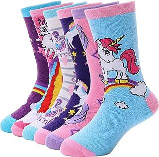 Girls Cotton Socks Cute Unicorn Pattern Soft Novelty...