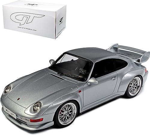 GT Spirit Porsche 911 993 GT Coupe Silber 1993-1998 ZM 98 limitiert 1 von 504 Stück 1 18 Modell Auto mit individiuellem Wunschkennzeichen