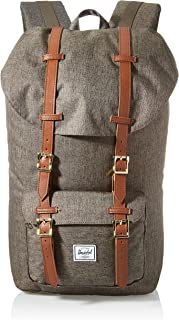 Herschel Supply Co. Little America Backpack, Canteen Crosshatch/Tan Synthetic Leather