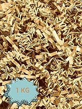 Wiits Natura   Papel Triturado Arrugado para Relleno y Decoración de Cajas   Color Kraft   1 Kilogramo   Biodegradable y Compostable   Libre de Plástico