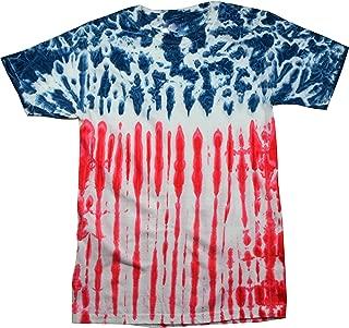 Tie Dye Flag Shirt Red White Blue American USA T-Shirt