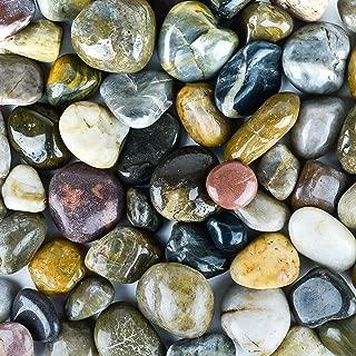 Galashield River Rocks Polished Pebbles Decorative Stones Natural Aquarium Gravel (5 lb Bag)