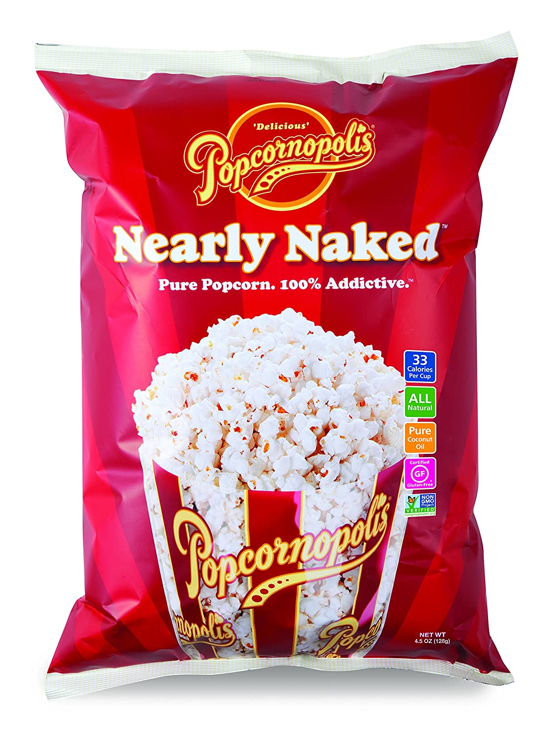 Popcornopolis Nearly Naked Gourmet Popcorn 4.5 8 Pack Dealing full price reduction of Ounce Genuine Free Shipping