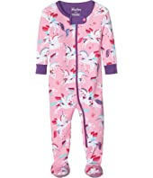 Hatley Kids - Rainbow Unicorns Footed Coverall (Infant)