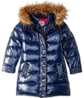 Long Down Coat with Faux Fur Hood (Toddler/Little Kids/Big Kids)
