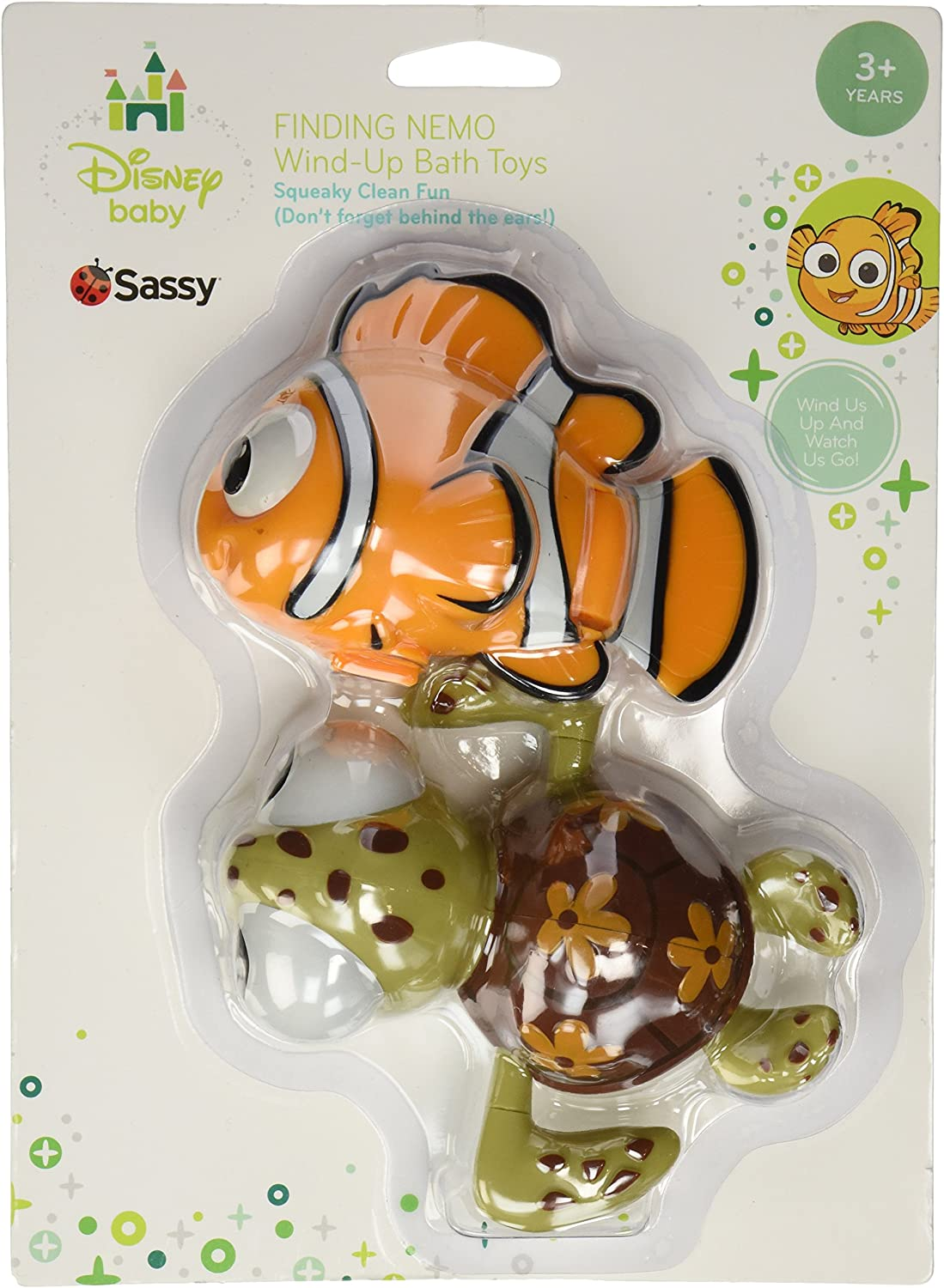 Sassy Disney Wind-Up Toy, Finding Nemo, 2 Count (Discontinued by Manufacturer) by Disney