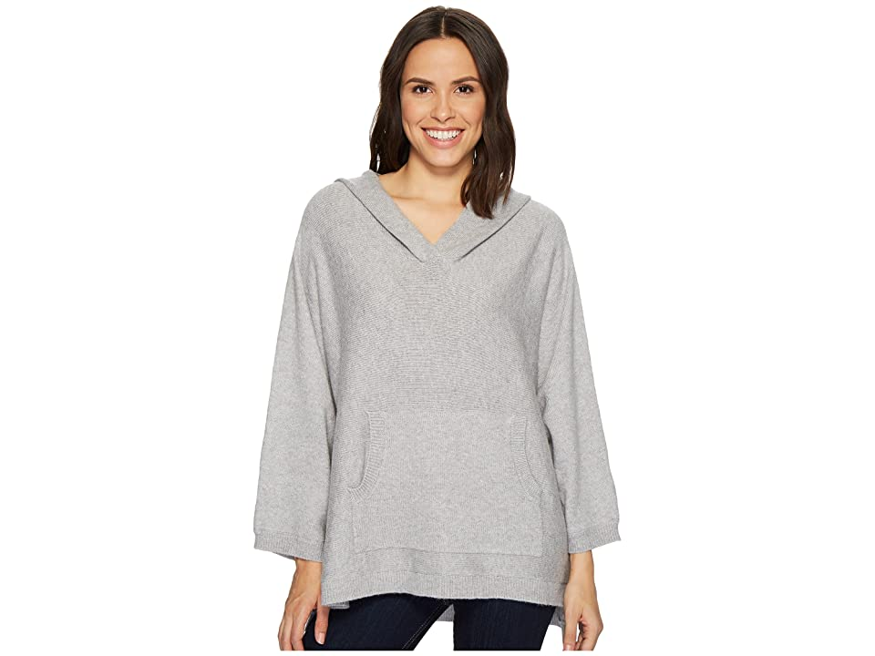 TWO by Vince Camuto Dolman Sleeve Relaxed Hooded Sweater (Light Grey Heather) Women