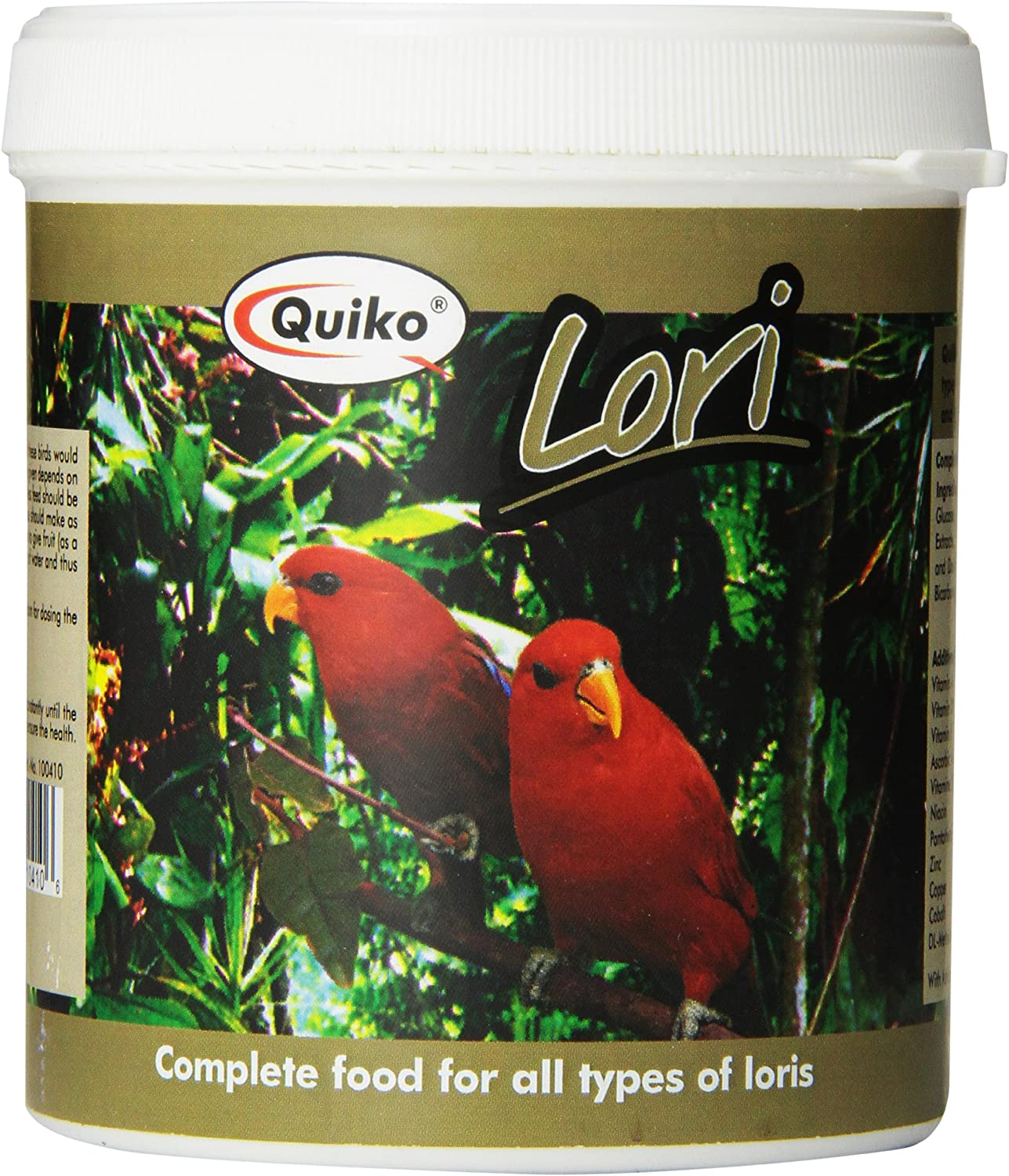 Quiko Lori  Complete Food For Nectar Eating Birds, 12.37 Ounce Recloseable Container