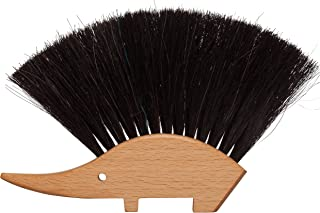REDECKER Hedgehog Table Brush, Natural Horsehair Bristles, 4-1/2 x 5-1/2 inches, Versatile Hand Brush in a Decorative Shape, Made in Germany
