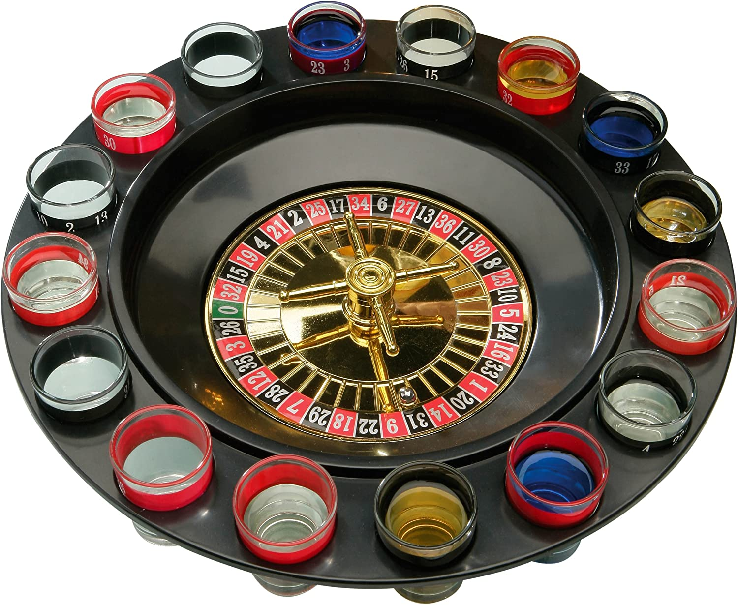 Premier New sales Housewares Roulette 100% quality warranty 16 Glass Game Lucky Shot Drinking