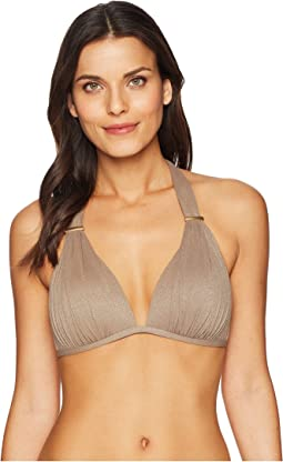 Kenneth Cole - Lurex® Solids Wireless Push-Up Bikini Top