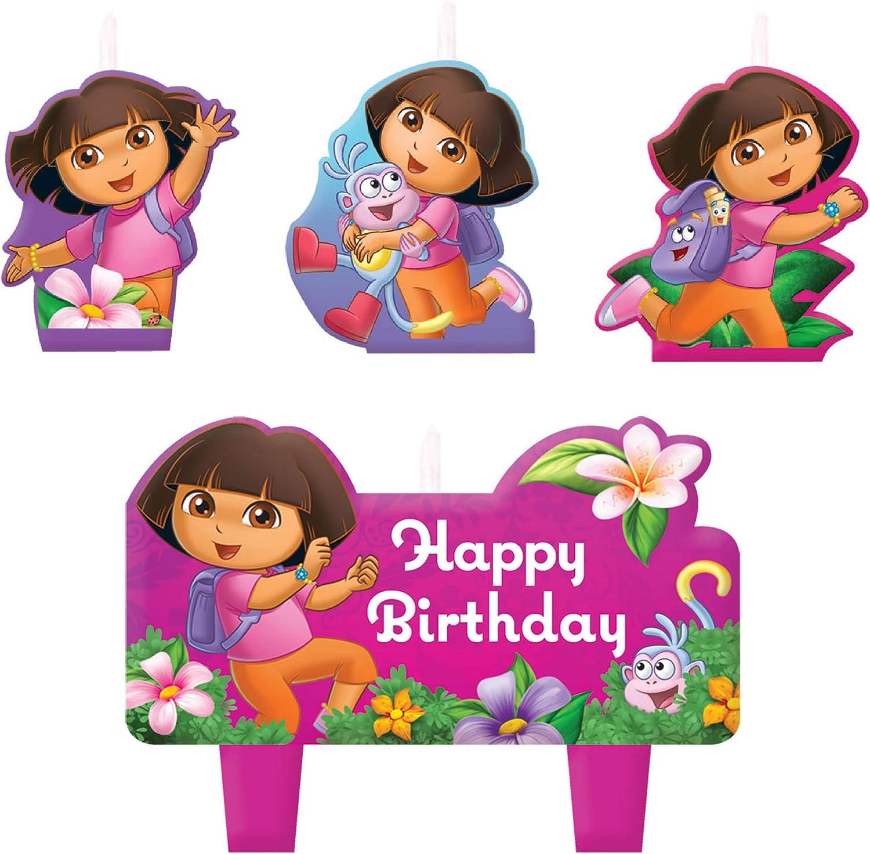 Dora's Flower Adventure Mini Molded Cake Candles