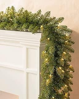 Balsam Hill Berkshire Mountain Fir Prelit Artificial Christmas Garland, 10 Feet, Clear Lights