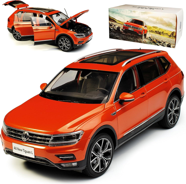 Paudi Volkwagen Tiguan II SUV L Allspace Orange 2. Generation Ab 2016 1 18 Modell Auto