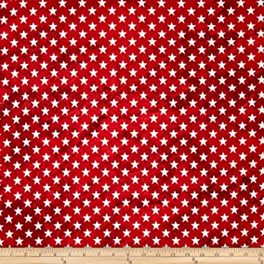 Fabri-Quilt Marblehead Valor Straight Stars Red Fabric By The Yard