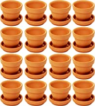 Juvale Small Terra Cotta Pots with Saucer- 16-Pack Clay Flower Pots with Saucers, Mini Flower Pot Planters for Indoor, Out...