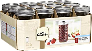 Kerr 7061000115 Quilted Crystal Jelly Jars with Lids and Bands, 12-Ounce, Set of 12