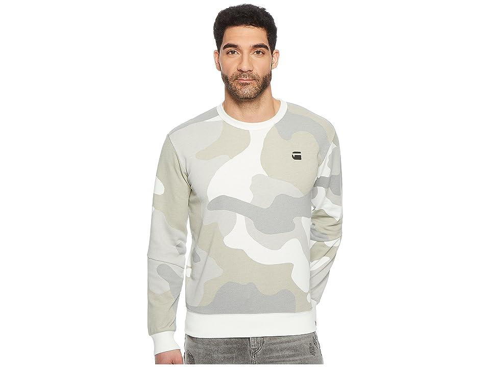 G-Star Stalt Crew Sweater (Milk/Industrial Grey All Over) Men
