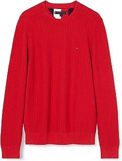 Tommy Hilfiger Bold Textured Cotton Sweater Maglione Uomo