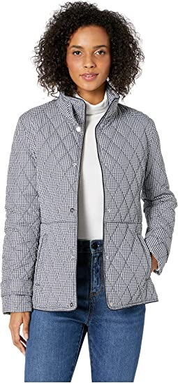 Quilted Houndstooth Jacket