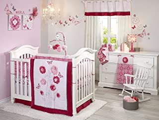 NoJo Butterfly Bouquet 4 Piece Set with Diaper Stacker