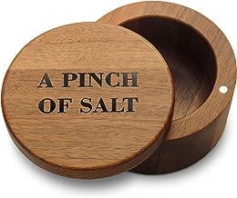 Cookbook People Acacia Wood Salt Box Holder