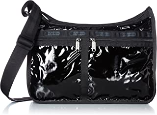 Black Patent Deluxe Everyday Crossbody Bag + Cosmetic Bag, Style 7507/Color 9908