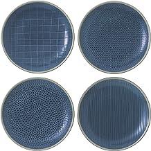 "Gordon Ramsay Maze Grill 9"" Salad Plates Set/4 Mixed by Royal Doulton, Blue"