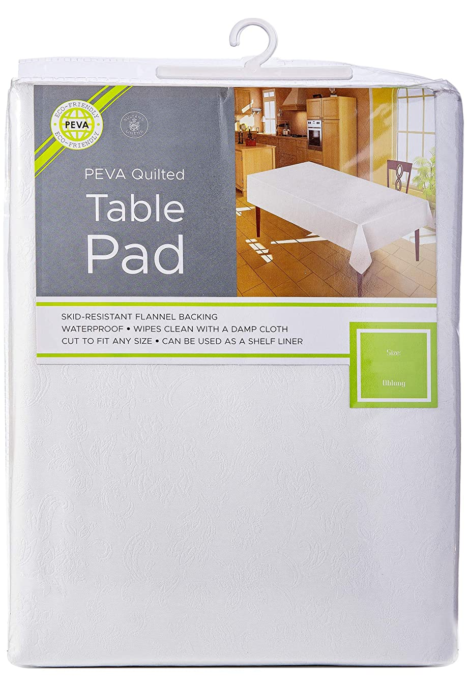 Sultan's Linens Eco-Friendly Peva Table Pad Waterproof Surface with Flannel Backing Floral (120-inch)