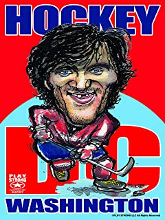 Play Strong Alexander Ovechkin Washington DC Hockey Poster - Limited Edition Fine Art Hockey Poster Print (Unframed) 18x24...