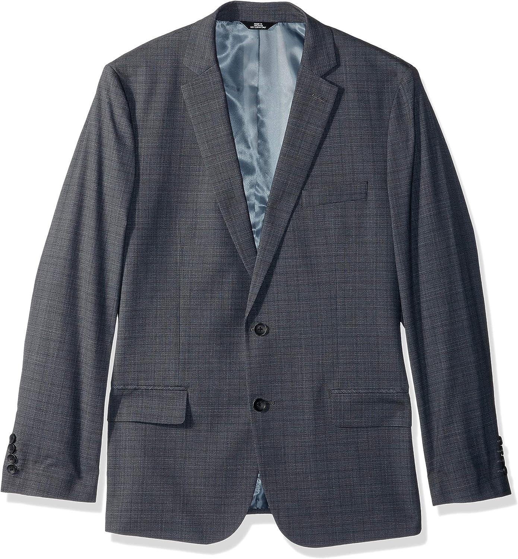 J.M. Haggar Men's Subtle Plaid Stretch Slim Fit Suit Separate Coat