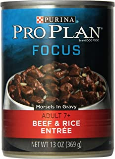 Purina Pro Plan Canned Beef And Rice Morsels Food, 13 Oz.