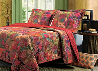Greenland Home 3-Piece Jewel Quilt Set, King, Multicolor