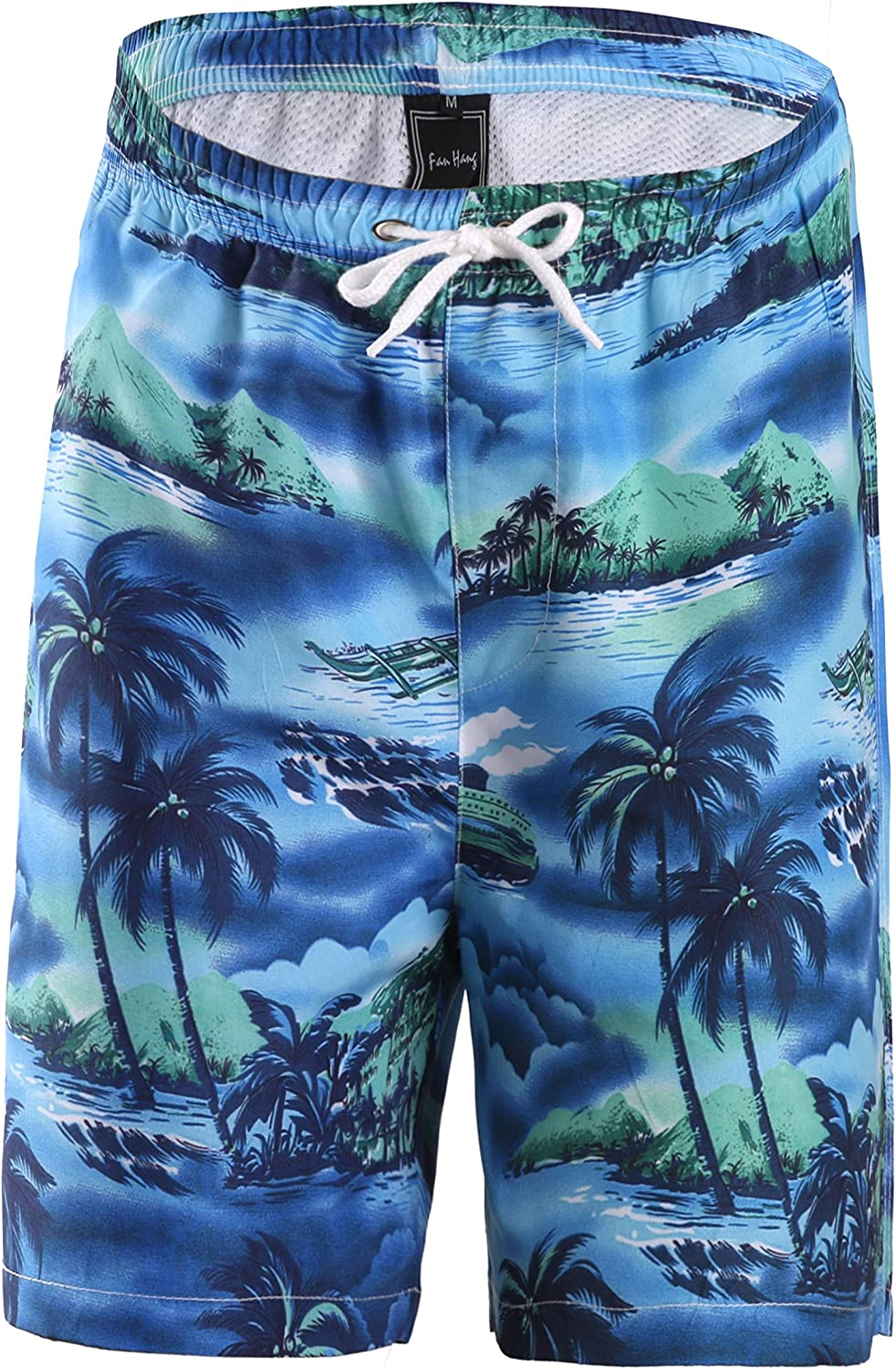 FANHANG Big Boys Girls UPF 50+ Active Printed Quick Dry Swim and Workout Board Beach Short